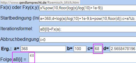 Modulo per Iterationsrechner - (Mathematik, Rechnung, variablen)