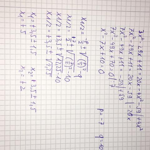 Lösung und Rechenweg  - (Mathe, Formel, PQ)