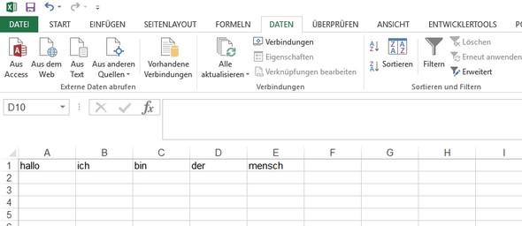 Ohne Filter - (Excel, Tabelle, Überschrift)