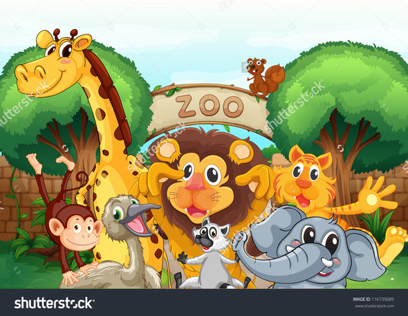 Viel Spaß im Zoo! - (Kinder, Familie, Geburtstag)
