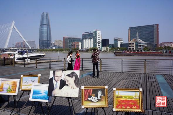 Blick auf den Bund von Ningbo - (China, Shanghai, SehenSehenswürdig)