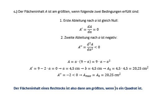 - (Mathematik, Aufgabe, Optimierungsprobleme)