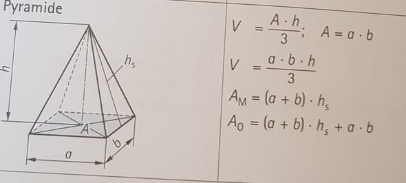 Wie Berechnet Man Die Höhe Einer Pyramide