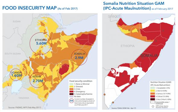 Horn von Afrika, Feb.2017 - (Menschen, Hunger, Afrika)