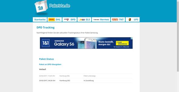 - (DPD, sendungsverfolgung, Live Tracking)