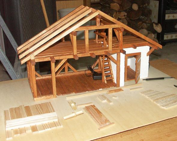 Abendländische Krippe/Bauernhaus - (Hobby, Modellbau)
