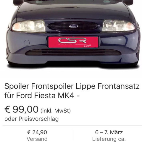 Frontspoiler Ford Fiesta MK4 - (Auto, Tuning, Ford)