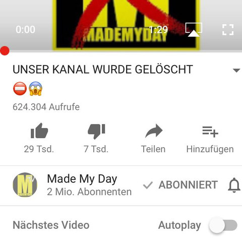 Made my Day Aufklärungsvideo für den 2. Account - (Youtube, MadeMyDay)