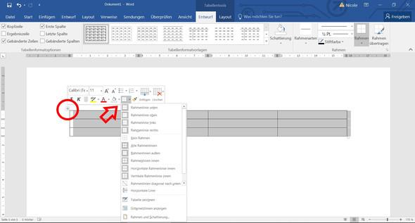 Excel - (Tabelle, word2017)