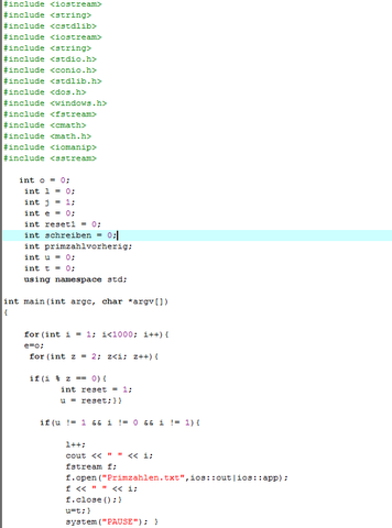 Code - (programmieren, cplusplus, Sieb des Erathosthenes)