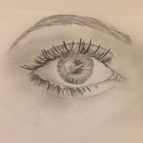 Das ist das Auge😅 - (Gesicht, zeichnen, malen)