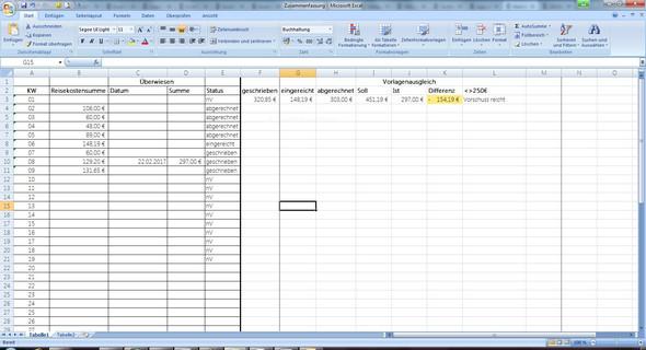 Und das hier wäre die Übersicht - (programmieren, Excel, Funktion)