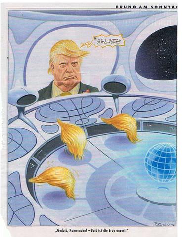 Trump Alien - (Astronomie, Weltall, Aliens)