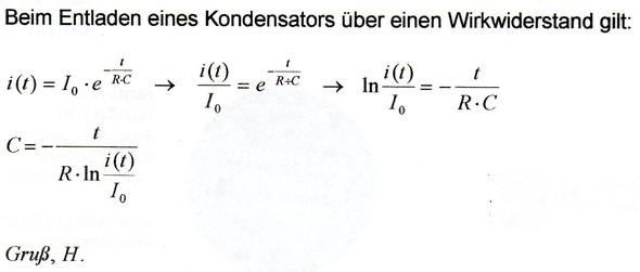 - (Schule, Physik, Kondensator)
