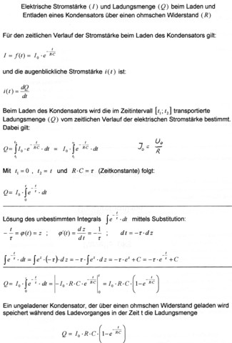 - (Physik, Kondensator, entladungskurve)