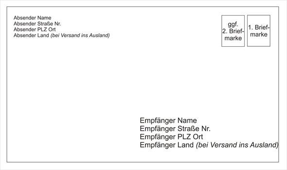 Empfänger Absender Brief