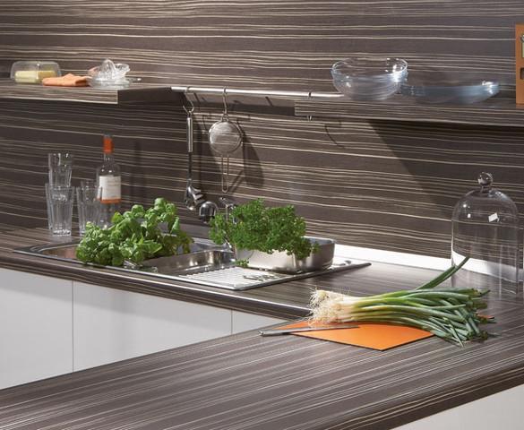 Küchenwand wie Arbeitsplatte - (Küche, Handwerk, Fliesen)