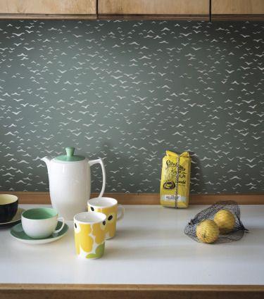 Küchenwand aus Glas - (Küche, Handwerk, Fliesen)