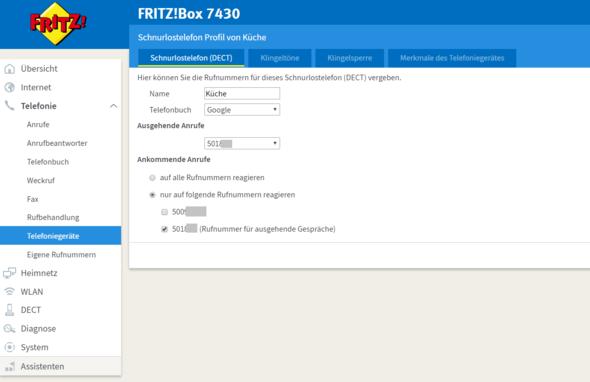 - (Internet, Fritz Box, DECT)