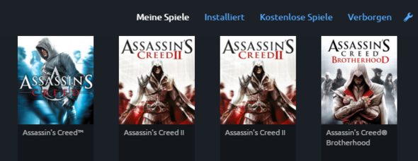 - (Games, Steam, Uplay)