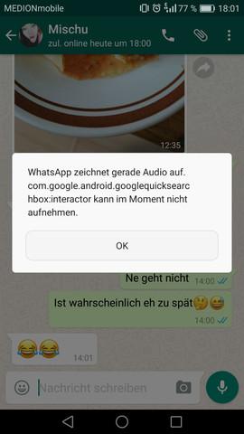 - (WhatsApp, Sprachnachricht)