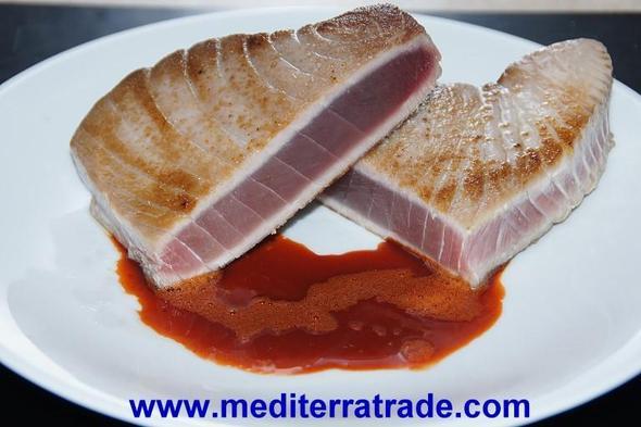 Thunfischfilet mit Paprikajus - (kochen, Balsamico)
