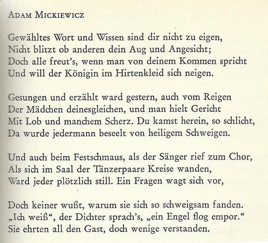 Kann Mir Jmd Ein Polnisches Gedicht Empfehlen Schule
