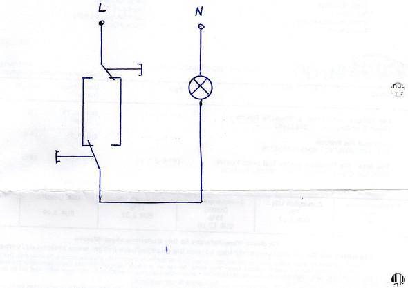 wechselschaltung mit zwei schaltern physik strom schueler. Black Bedroom Furniture Sets. Home Design Ideas
