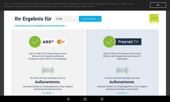 - (RTL, dvb-t2, Freenet TV)