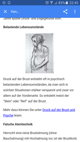 - (Übelkeit, Bauchschmerzen Brustkorb druck)
