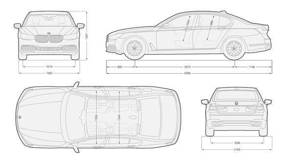 wie gro u00df ist die motorhaube eines bmw 7er neuestes modell
