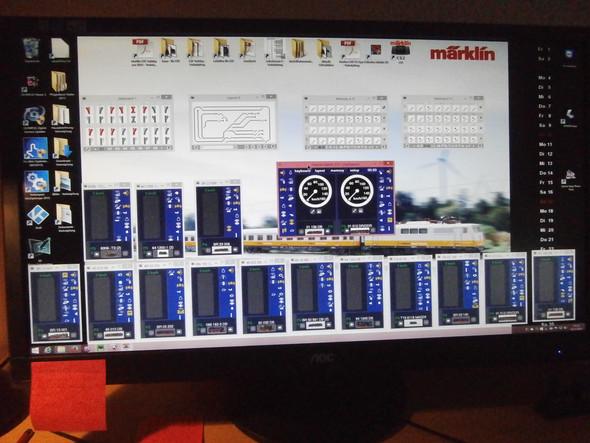 So sieht es aus, wenn eine Modellbahn über PC gesteuert wird. - (PC, Freizeit, Hobby)