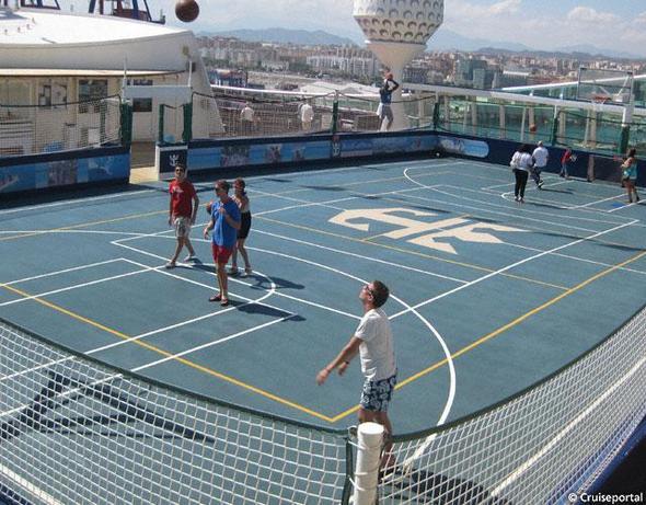 Basketballfeld - (Urlaub, Kreuzfahrt)