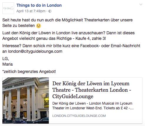 Facebook - (Ticket, London, Musical)