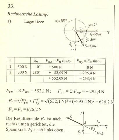 Resultierende kraft berechen bitte um hilfe und jemand for Resultierende kraft berechnen