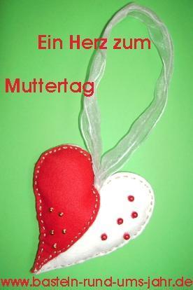 Muttertagsherz von www.basteln-rund-ums-jahr.de - (Geschenk, Mutter, kreativ)