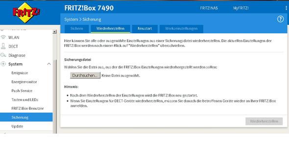 - (Fritz Box, Fritzbox LED )