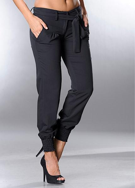 Damenhosen mit gummizug am bein