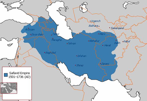 Persien um 1510 unter Schah Ismail I. (Wikimedia Commons; gemeinfrei) - (Geschichte, Länder, macht)