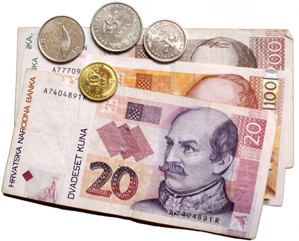 So sieht das Geld hier aus. Kuna - (Urlaub, Deutschland, Bank)