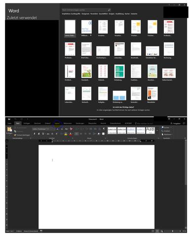 Bild 1 - dokument öffnen - (Microsoft, Word, word 2016)