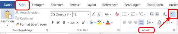 Bild 1: Steuerzeichen aktivieren - (Microsoft, Word, word 2016)