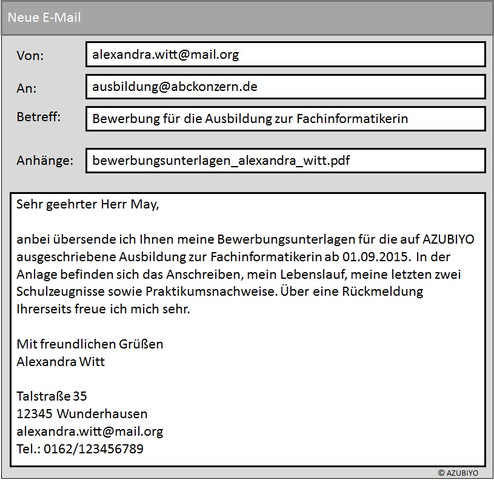 bewerbungsmuster mail bewerbung e mail - E Mail Bewerbung Muster