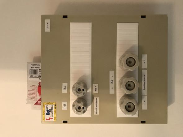 Sicherungskasten (aktuell) - (Strom, Elektrik, Elektrotechnik)
