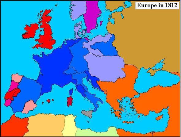 Karte_Europa_1812 - (Geschichte, Napoleon, verbuendete)