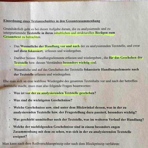 Einordnen  - (Schule, deutsch, Prüfung)
