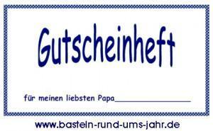 Vorlage Gutschein Vatertag von www.basteln-rund-ums-jahr.de - (Muttertag, vatertag)