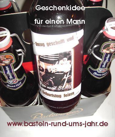 Geschenk für einen Mann von www.basteln-rund-ums-jahr.de - (Muttertag, vatertag)