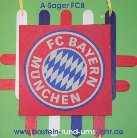 A-Sager Fußballfan FCB von www.basteln-rund-ums-jahr.de - (Muttertag, vatertag)