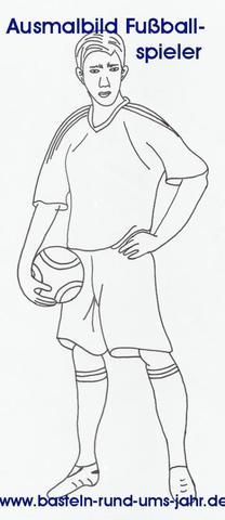 Ausmalbilder Fussballspieler von www.basteln-rund-ums-jahr.de - (Muttertag, vatertag)